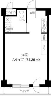 Aタイプ居室平面図